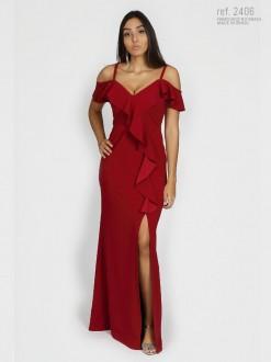 Vestido ombro a ombro festa Vermelho - Ref. 2406