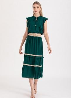Vestido saia três Maria verde ref. F11983