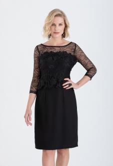 Vestido tubinho com manga preto - Ref. 2258