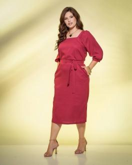 Vestido uva  plus size com manga 3/4  Ref. U61521