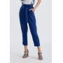 Calça pantacourt crepe com bolso azul  Ref. 02651