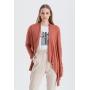 Cardigan feminino tricot terracota ref. 2665