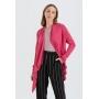 Cardigan feminino tricot pink ref. 2665