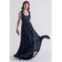 Vestido de festa longo Renda Azul Marinho - Ref. 2223