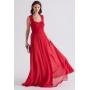Vestido de festa longo Renda vermelha - Ref. 2223