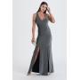 Vestido de festa lurex preto prata - Ref. 2394