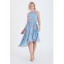 Vestido estampado azul serenity curto - Ref. 2682