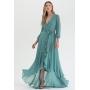 Vestido transpassado mullet Verde Salvia - Ref. 2543L