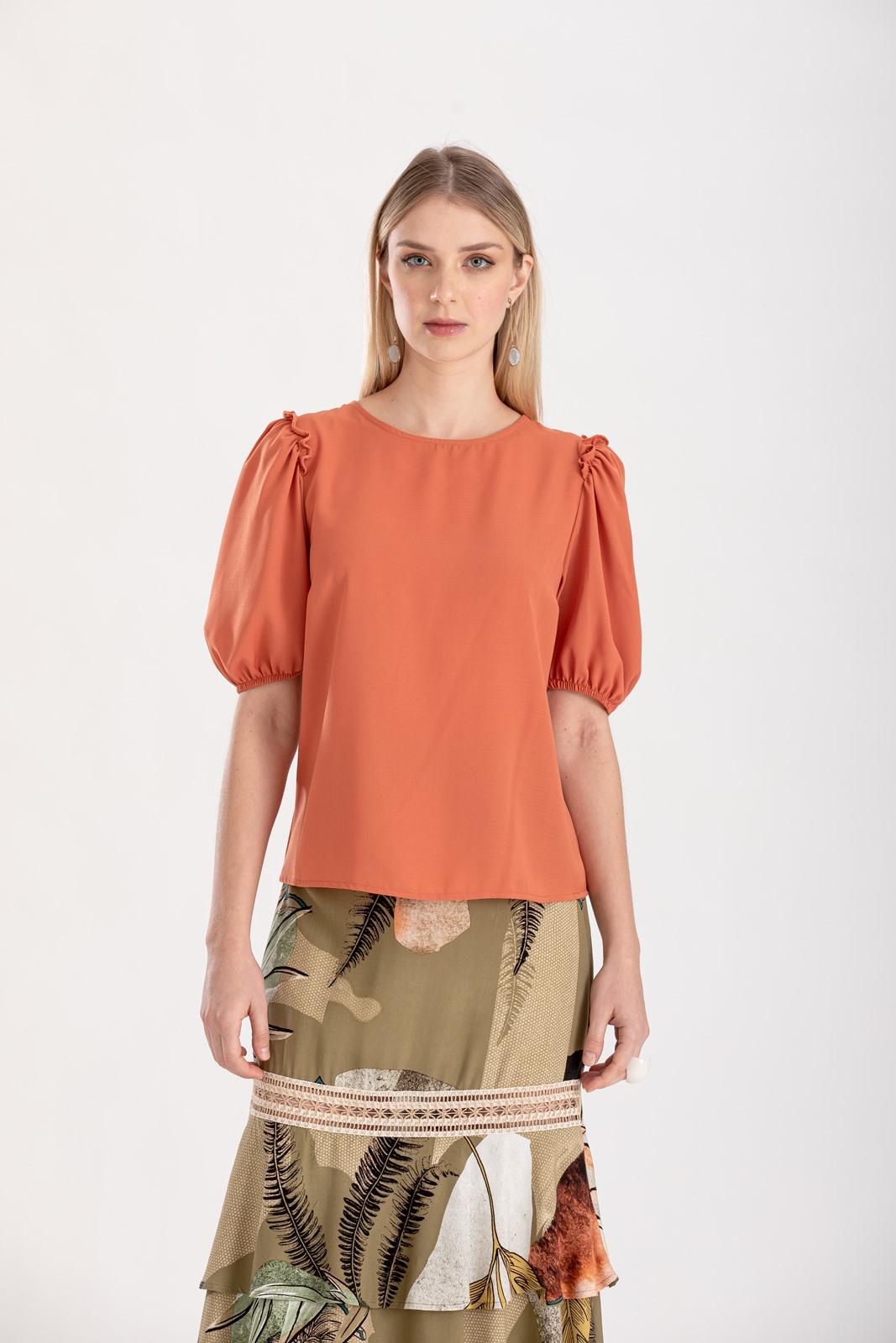 Blusa com manga terracota ref. F12300