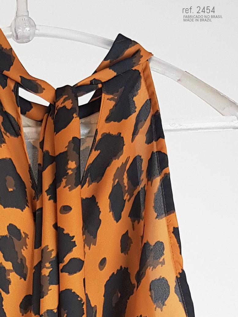 blusa estampada onça