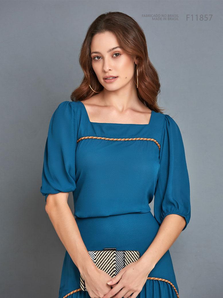 Blusas femininas decote quadrado Ref:F11857