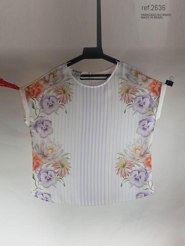 blusa com fecho de botão