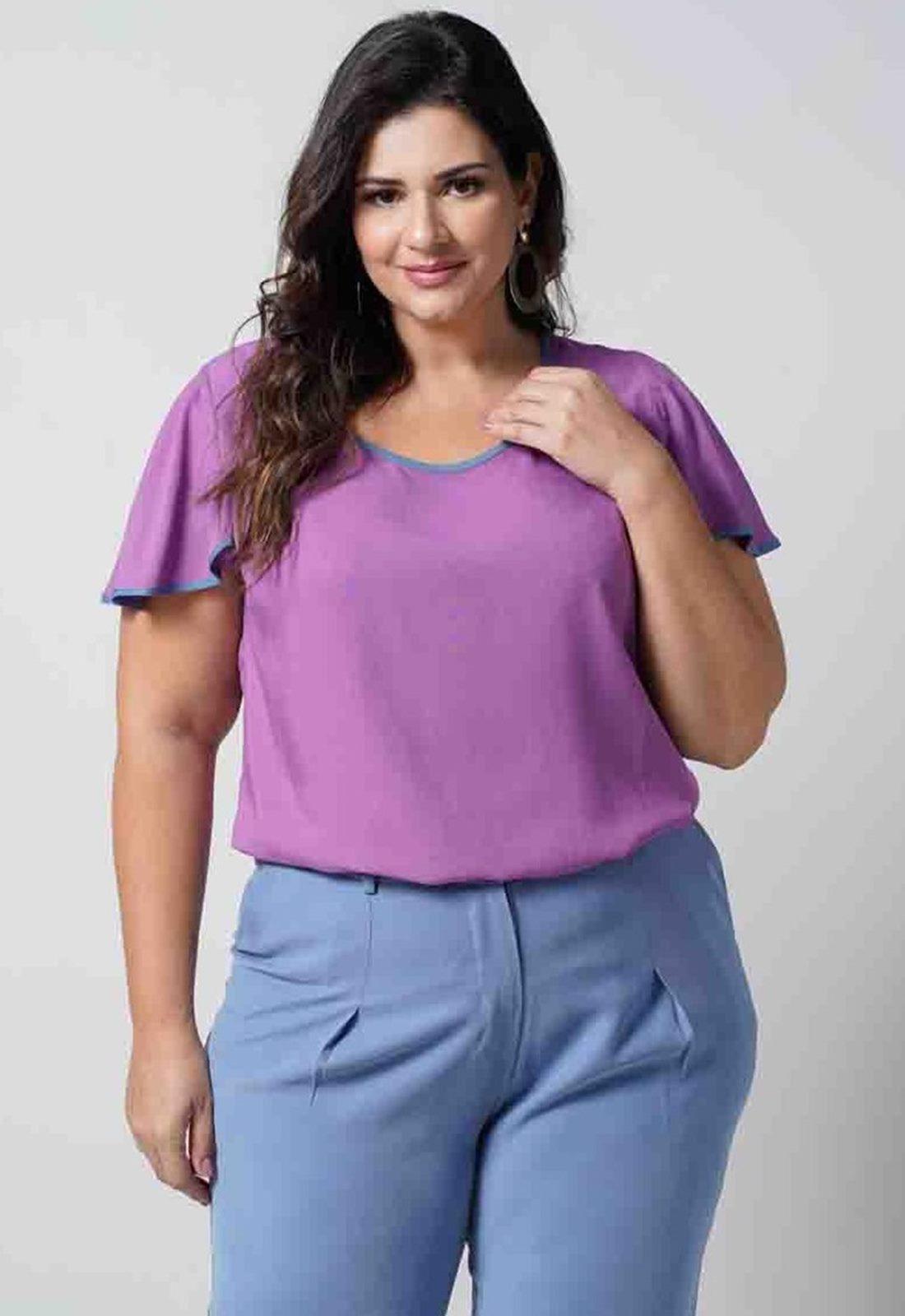 Blusa feminina uva plus size  Ref. U67021