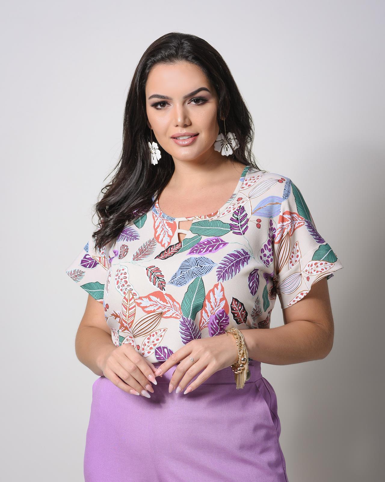Blusa plus size estampada U58121
