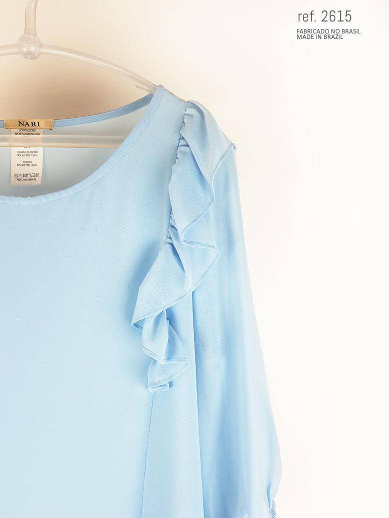 blusa social feminina azul serenity