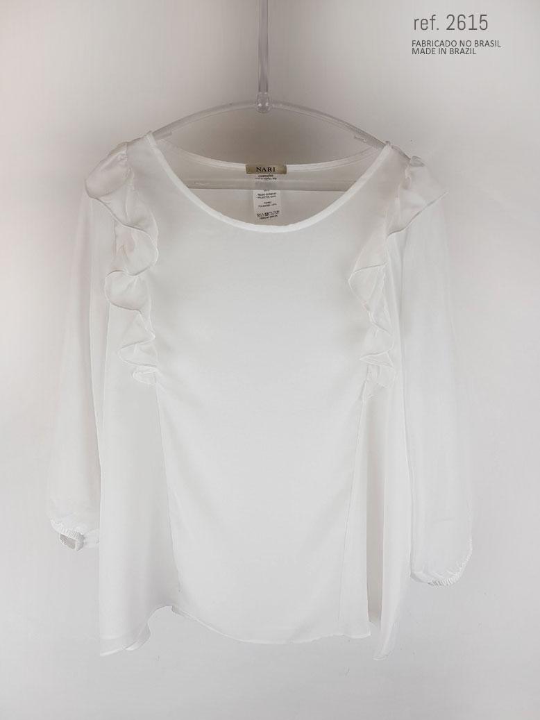 blusa social branca feminina