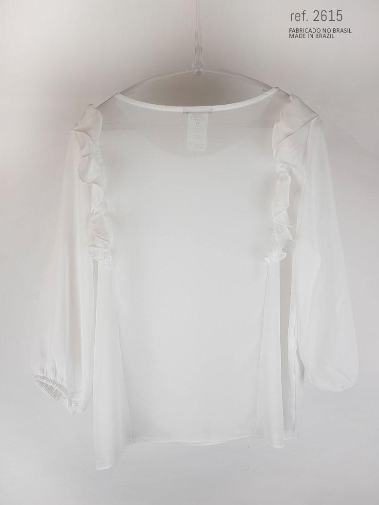 blusa com babado branco