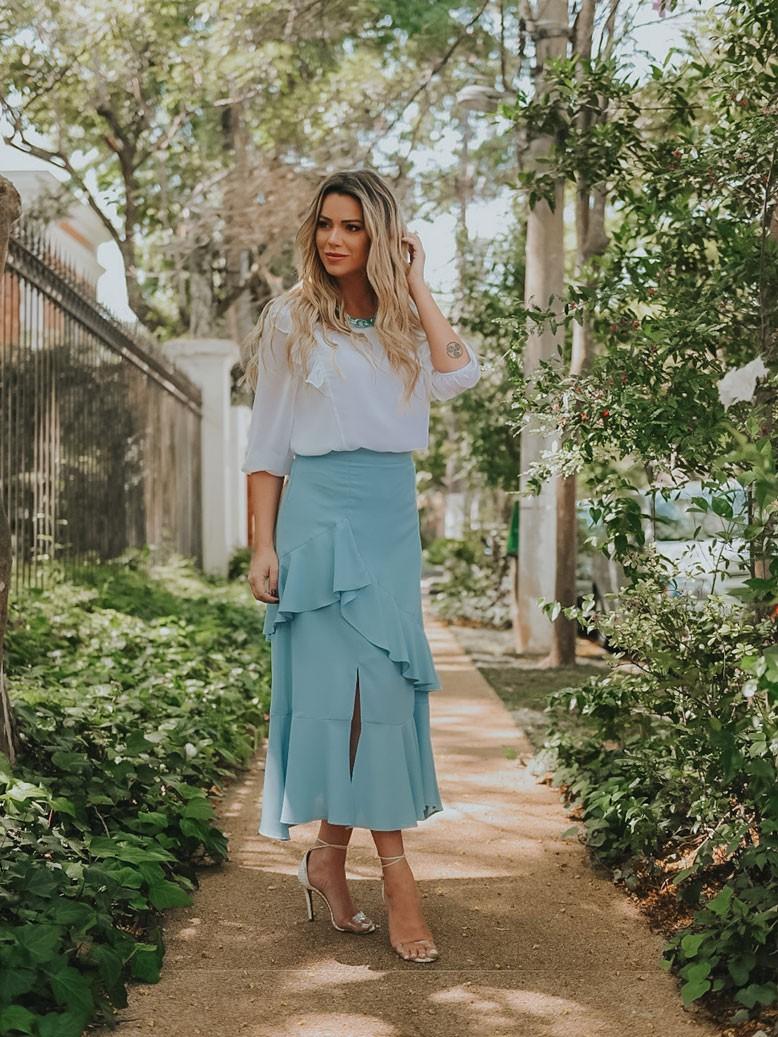 blusa social combinando com saia 3 marias