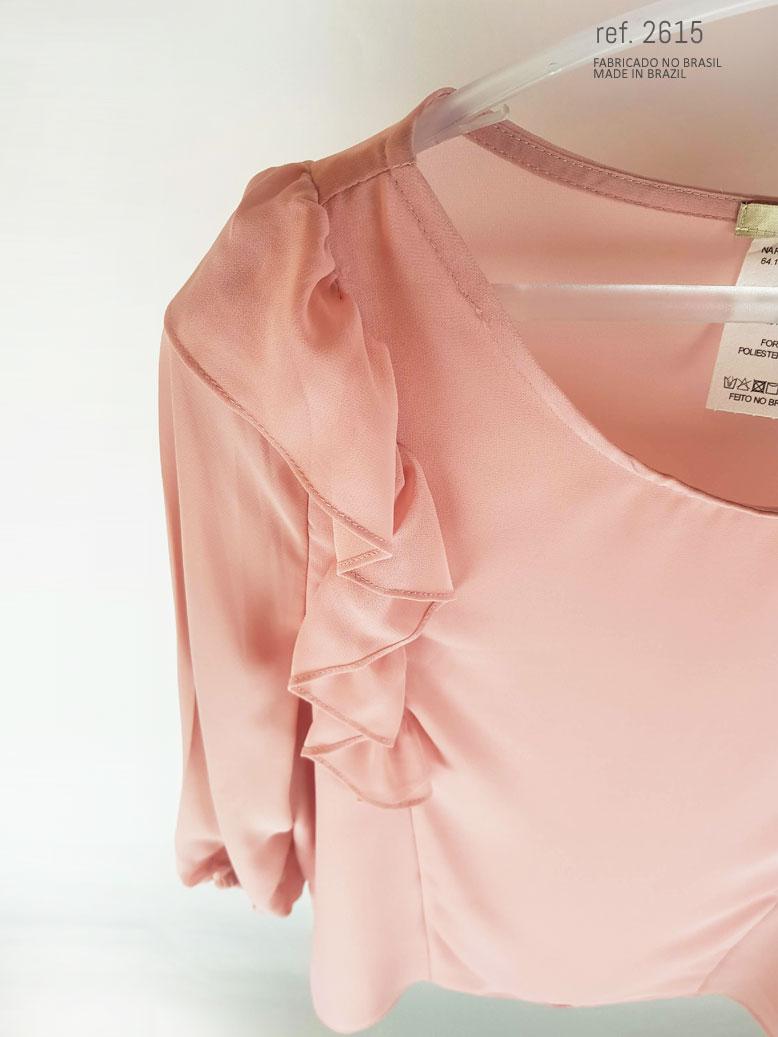 como comprar blusa social com babado