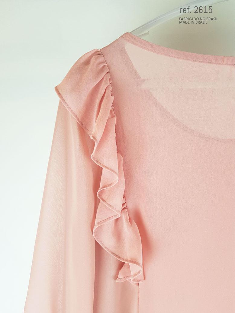 blusa rosê