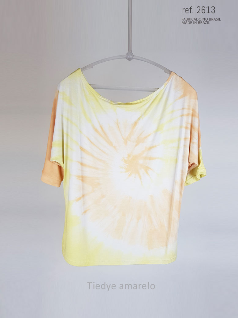 Blusa tiedye cor amarelo com laranja ref. 1025