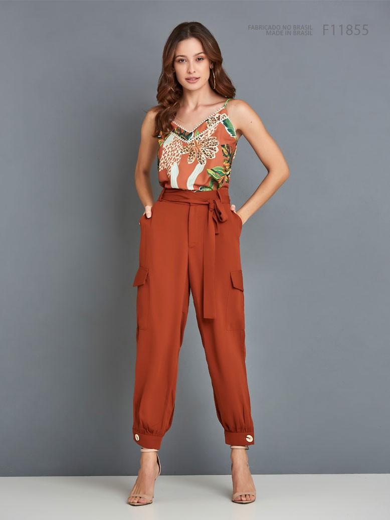 Calça feminina Alfaiataria Ref:F11855