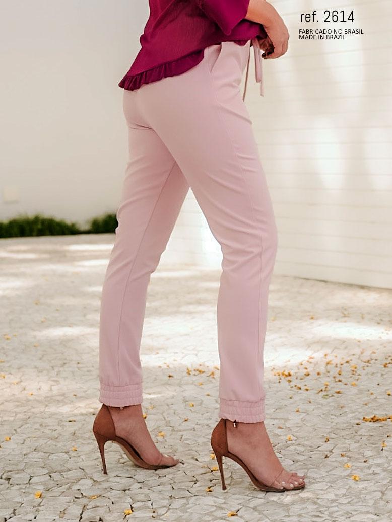 calça jogger rose