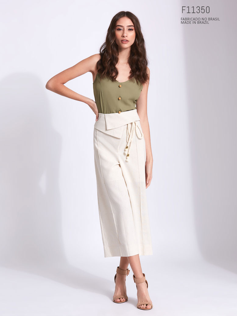 Calça feminina pantacourt Ref:F11350