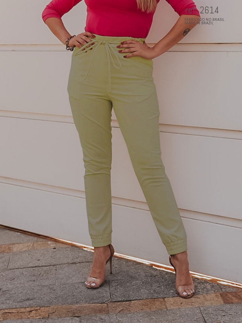 Calça jogger feminina verde ref. 2614