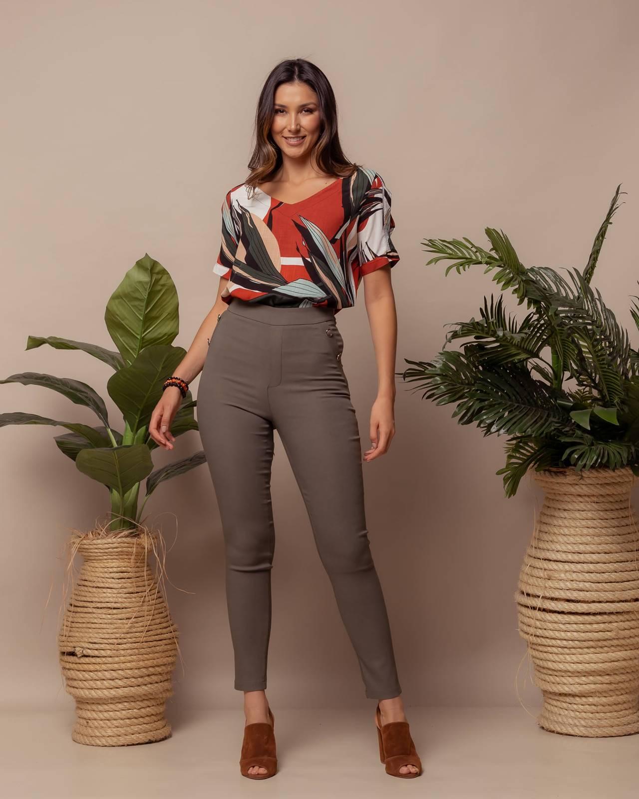 Calça social feminina com bolso  Ref. B3650