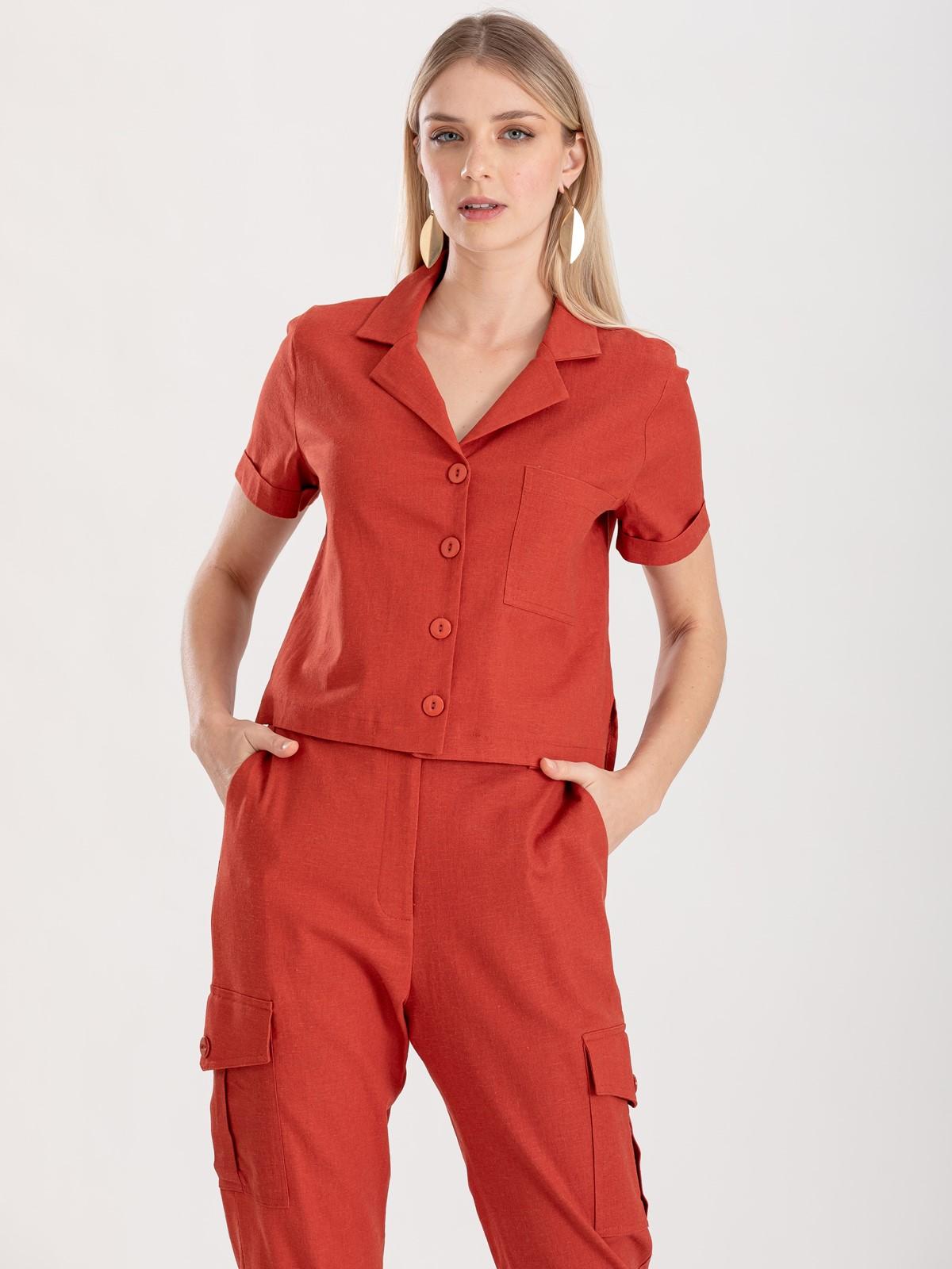 Camisa terracota Ref. F12314