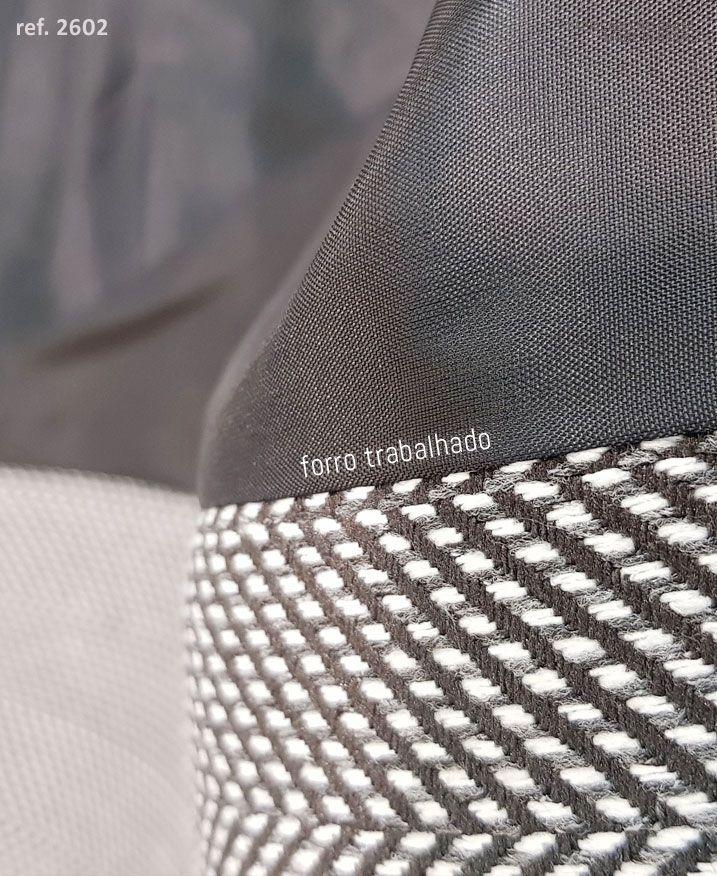 Casaco feminino blazer clássico 7/8 Chevron preto - Ref. 2602