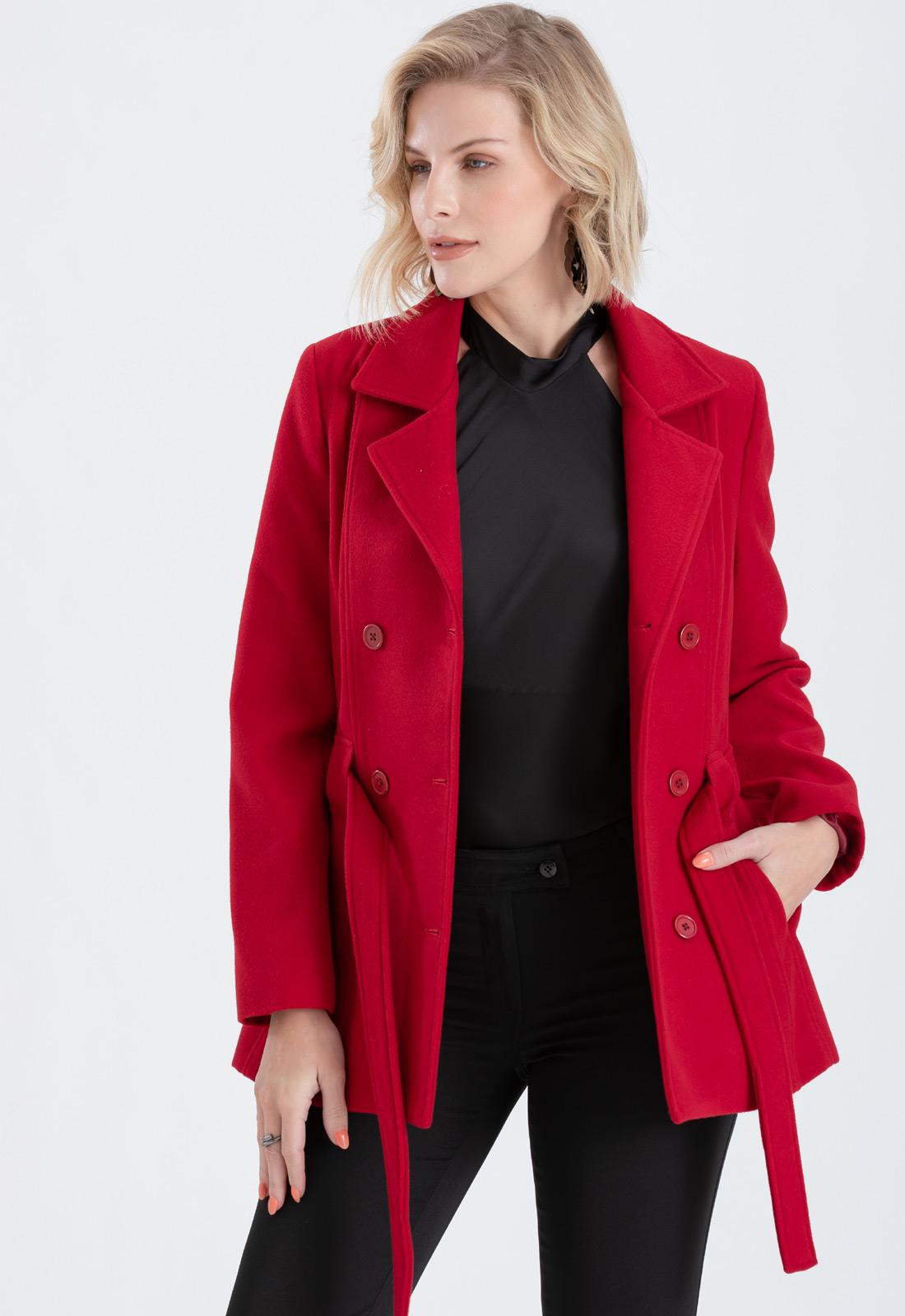 Casaco feminino vermelho plus size - Ref. 1145