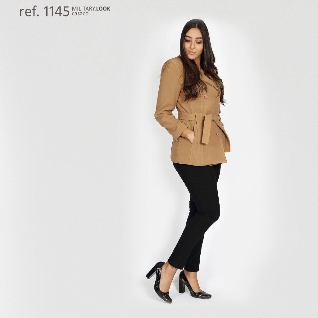 Casaco lã batido feminino plus size Caramelo - Ref. 1145