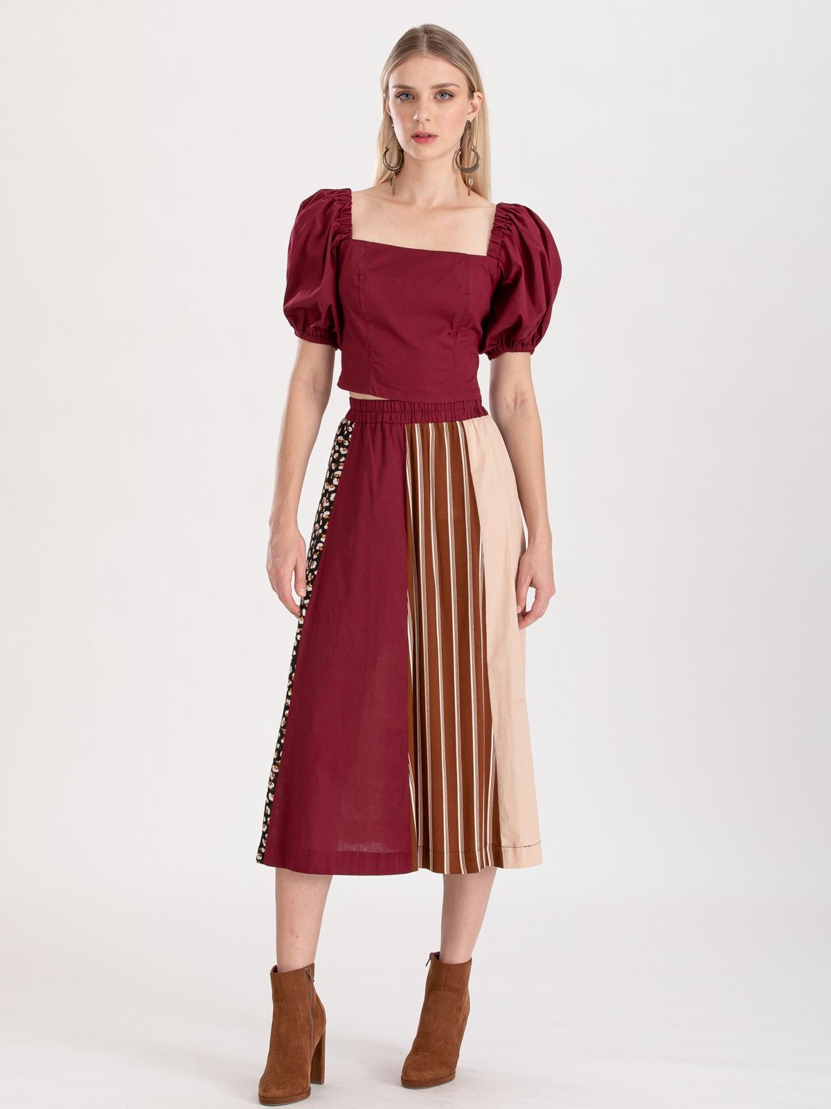Conjunto blusa com saia ref. f123101