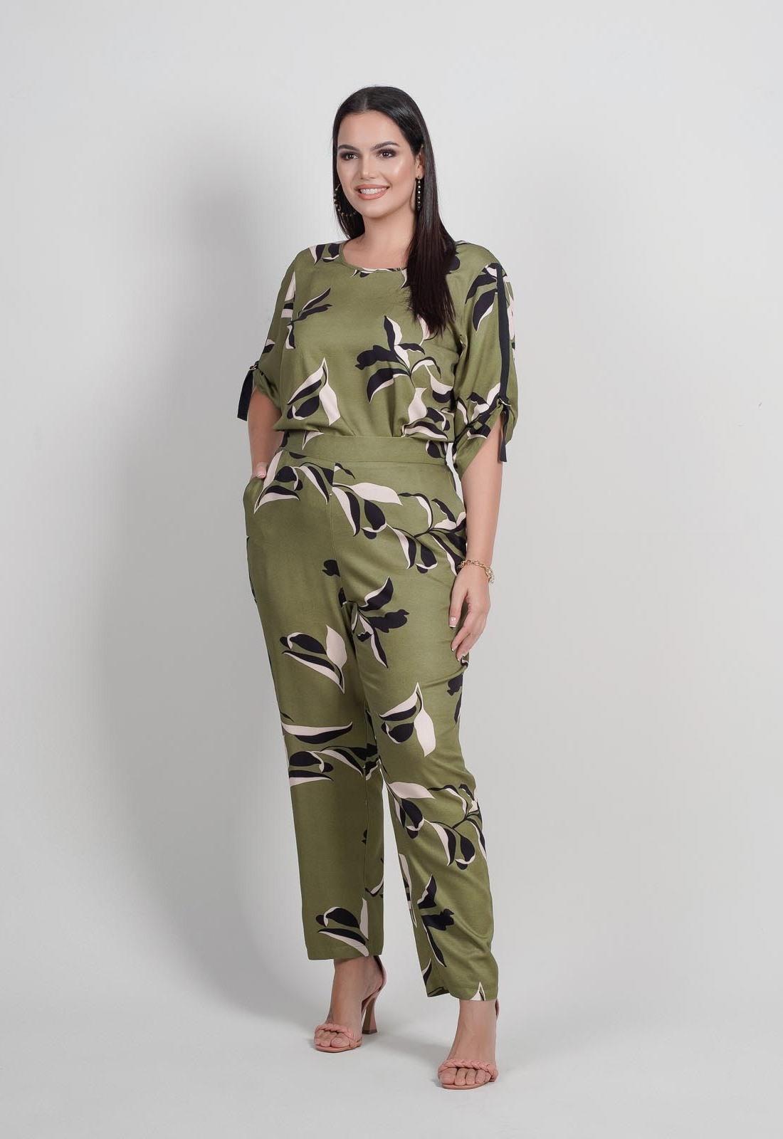 Conjunto militar calça  e blusa plus size  Ref. U64621