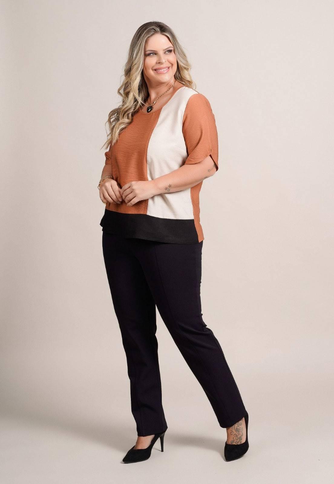Conjunto calça e blusa  plus size  Ref. U60621