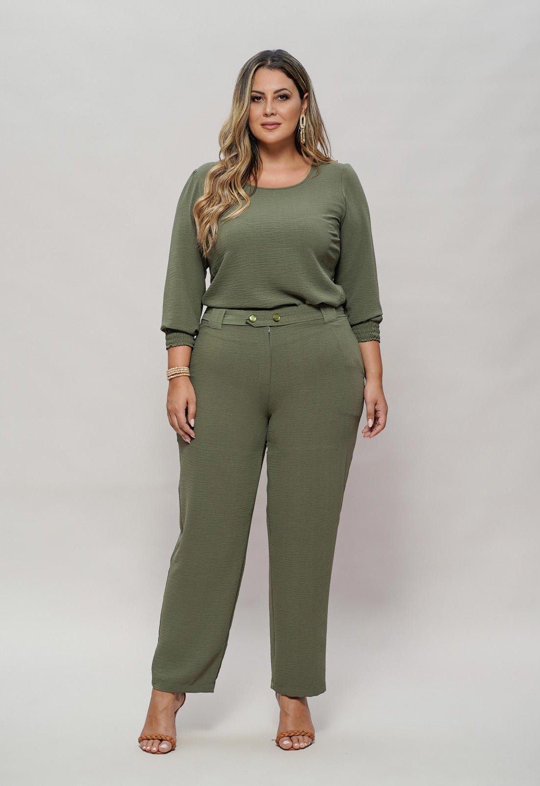 Conjunto militar calça e blusa  plus size  Ref. U63321