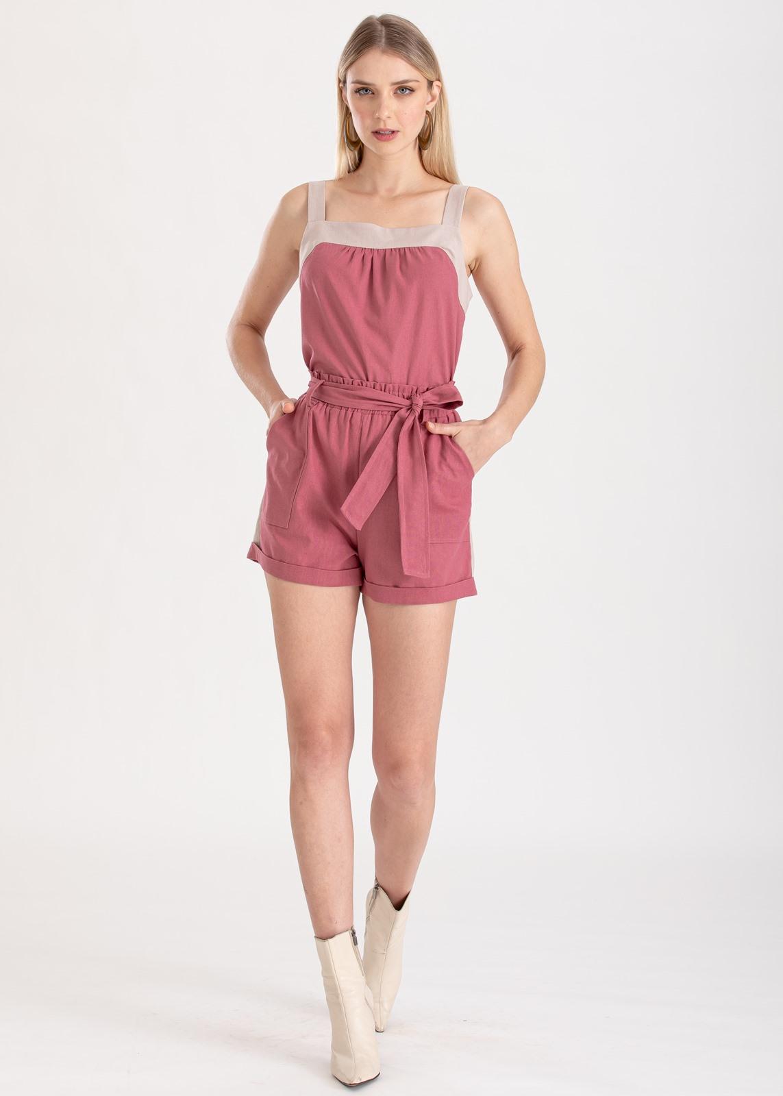 Conjunto rosa shorts  e regata ref. F123123