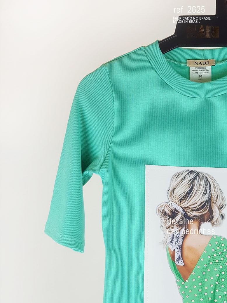 blusa girl verde