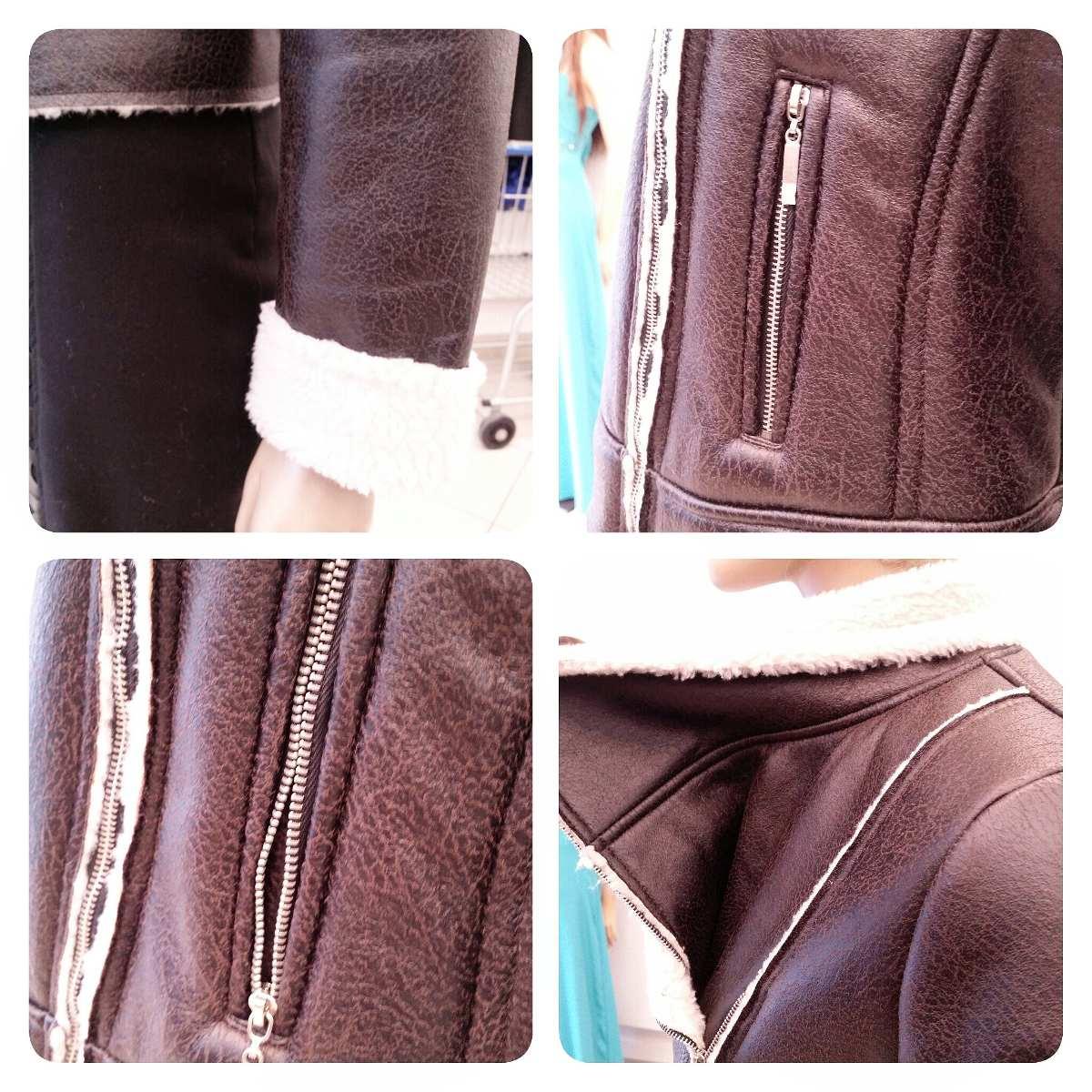 Jaqueta de couro fake tipo motoqueira curto ref. 1291