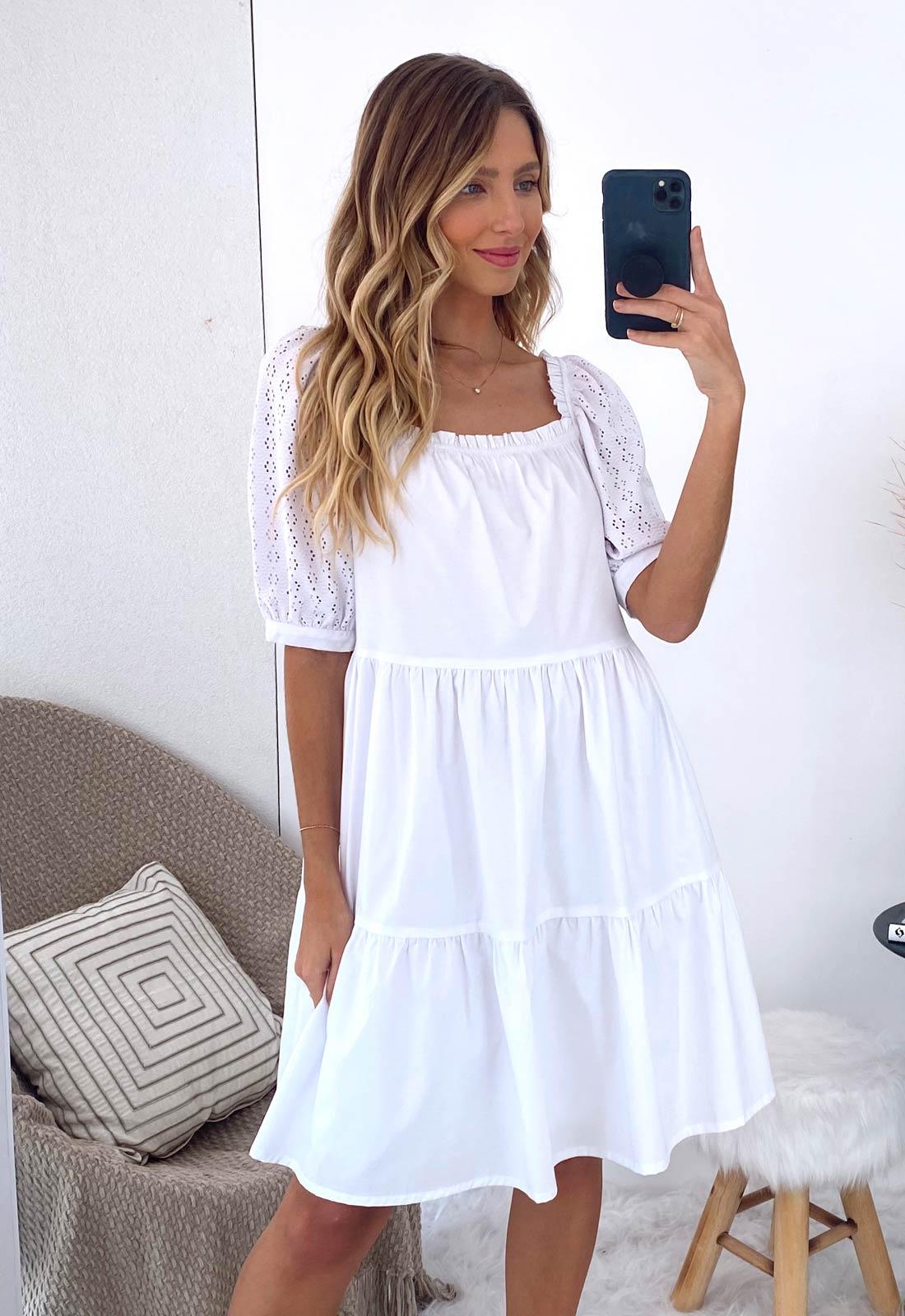 Vestido branco curto ref. F12210