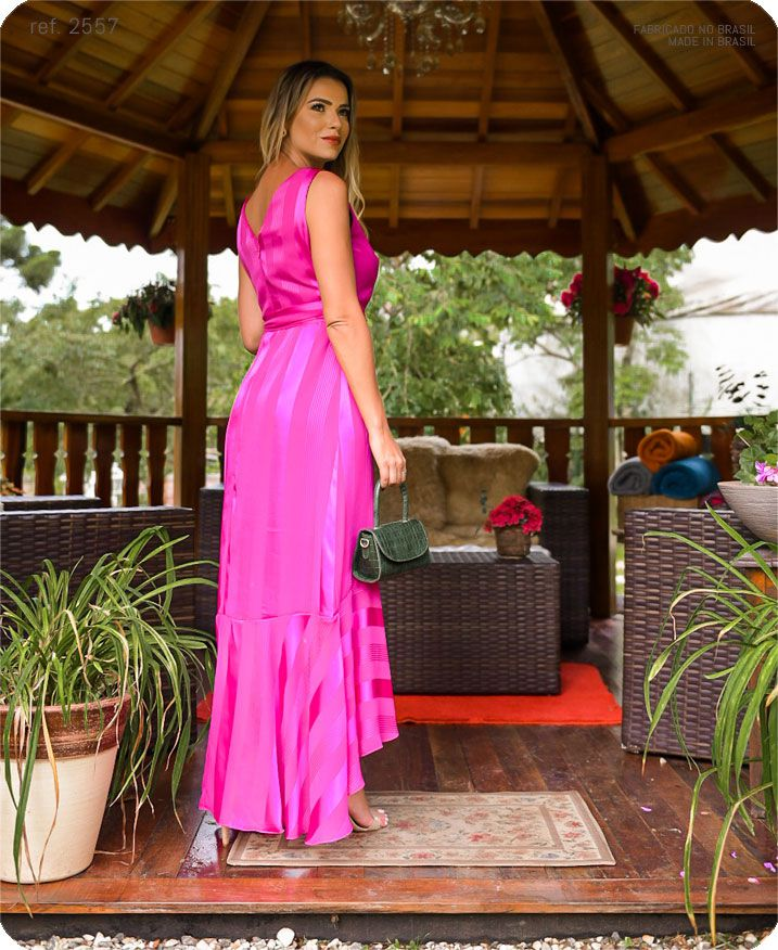 Vestido chiffon Elea Mullet - Ref. 2557