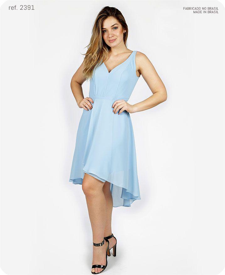 Vestido de festa Mullet com cinto de strass - Ref. 2391