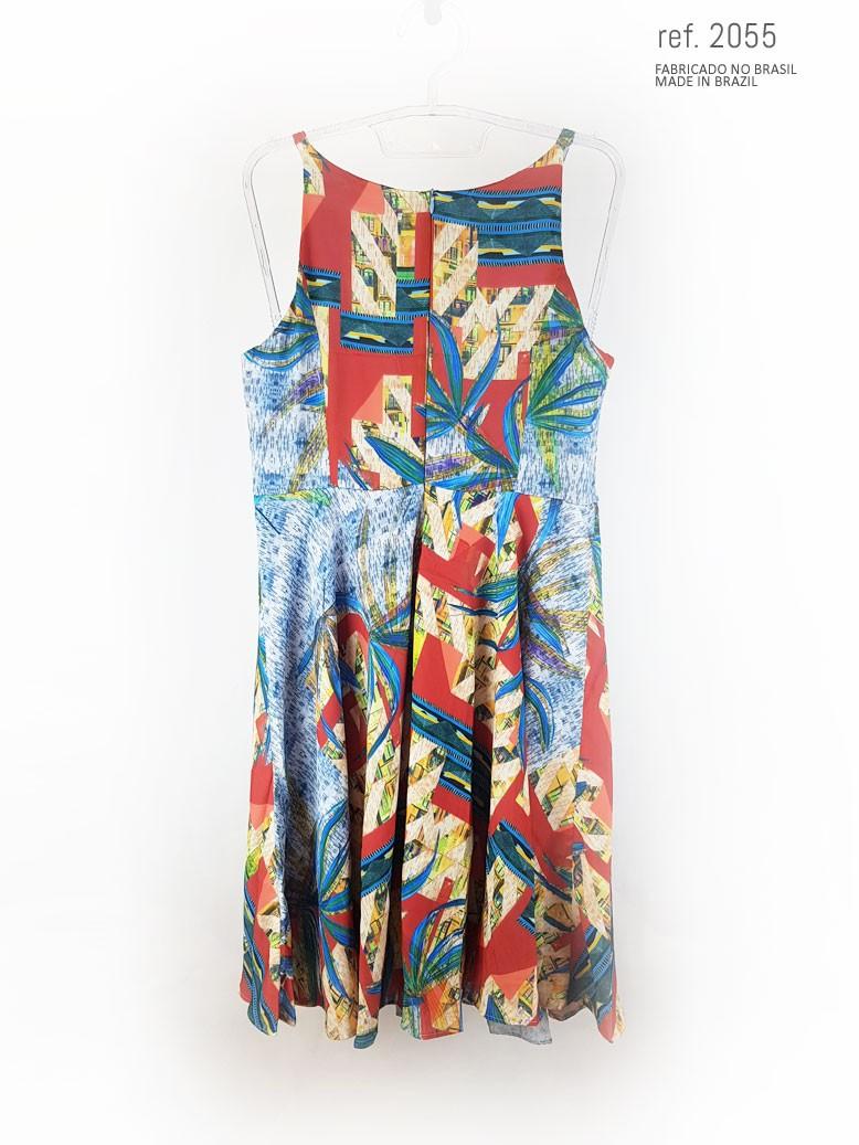 vestido de festa longo estampado