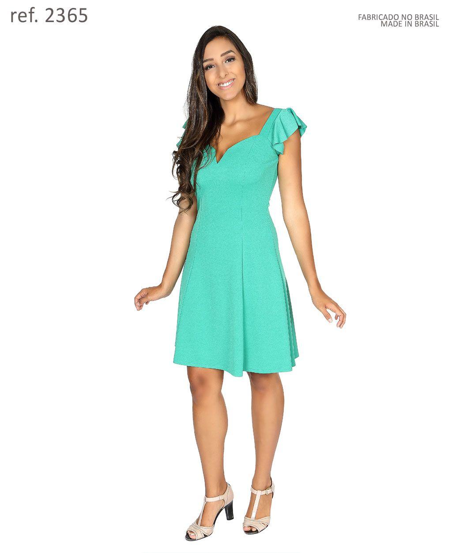 Vestido curto de malha com manguinha - Ref. 2365