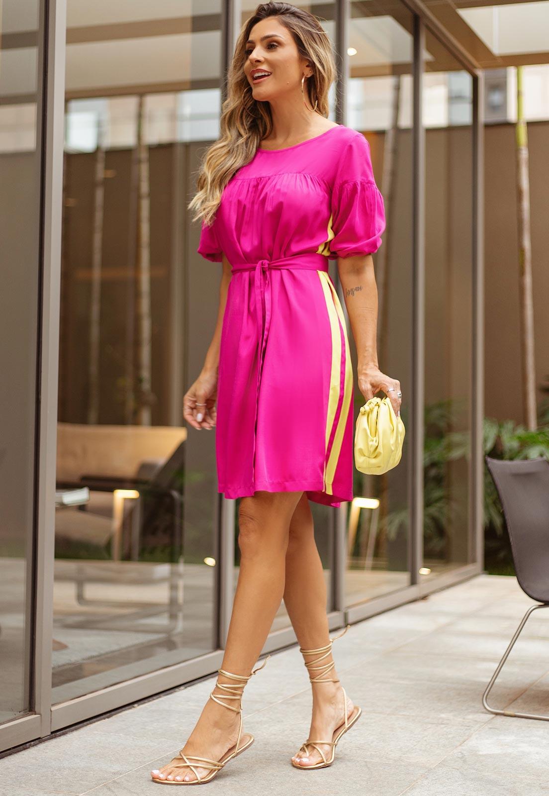 Vestido curto pink ref.  F12129