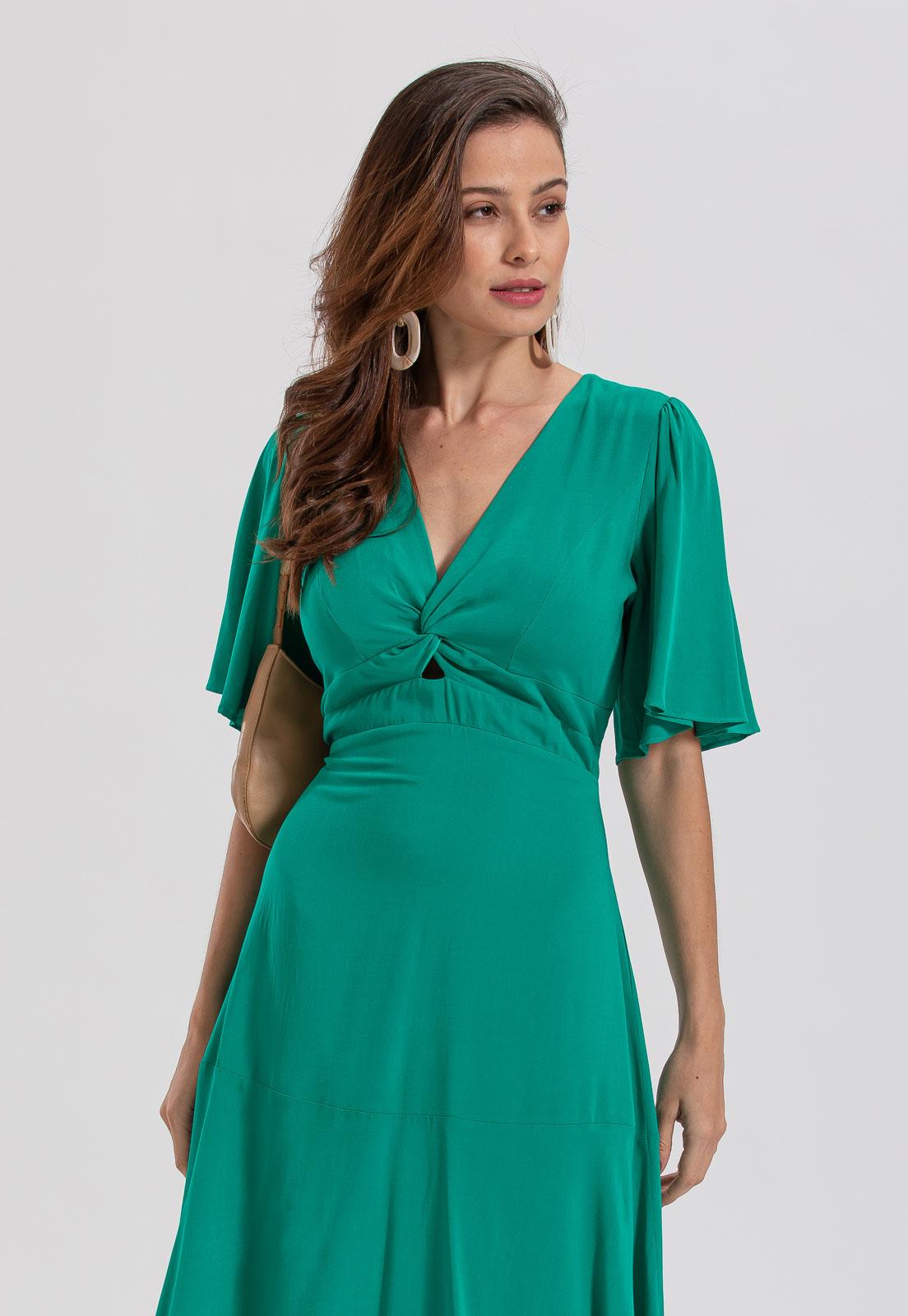 vestido decote em V