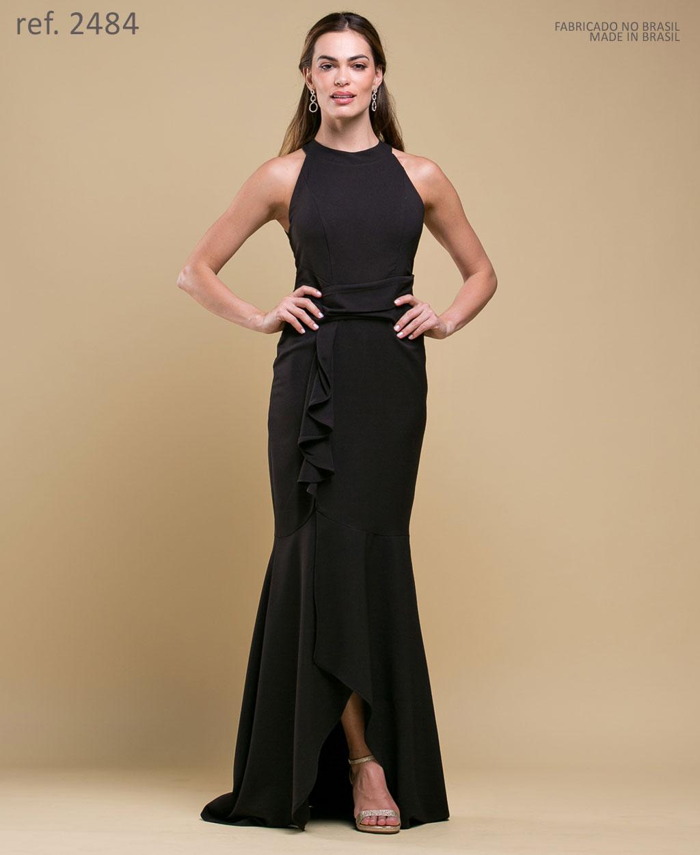 Vestido de festa preta - Ref. 2484