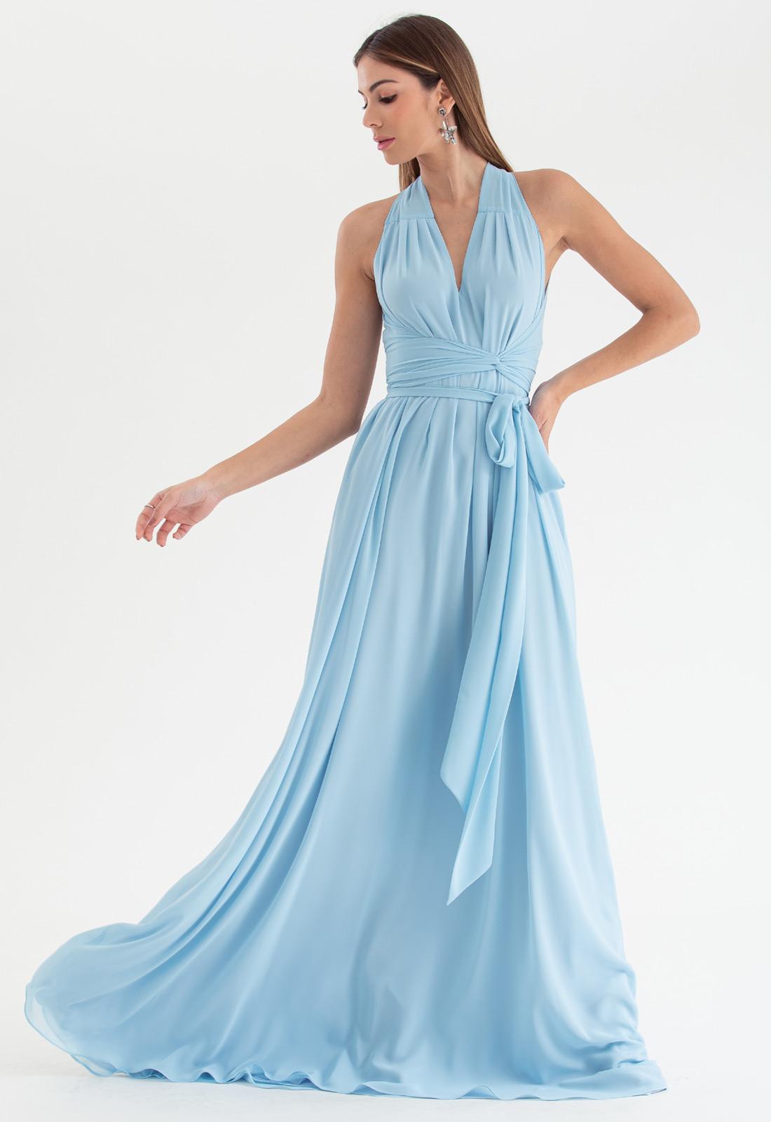 Vestido de festa azul serenity multi-tamanho Ref. 2580